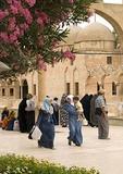 Sanliurfa (Urfa) pilgrims at holy site near Prophet Abraham birth cave