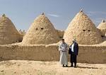 Harran mud brick beehive adobe houses