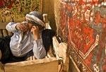 Harran Culture House with Kurdish Turk man drinking tea