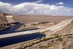 Ataturk Dam on Euphrates River, 6th largest earthen filled dam in world