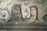Gaziantep Museum, Roman city of Zeugma Mosaics, Oceanus and Tethys floor mosaic