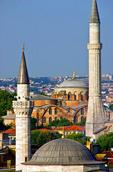 Istanbul's Aya Sofya (Hagia Sophia) framed by minarets