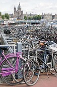 Amsterdam bicycle parking lot near Centraal Station