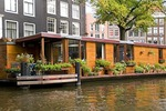 Amsterdam house boat on canal