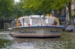 Amsterdam canal sightseeing cruise on Boat Company Lovers owned Flying Enterprise