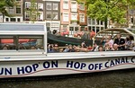 Amsterdam canal sightseeing cruise on Hop On Hop Off Cruises boat
