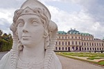 Vienna's Belvedere Palace, Baroque architecture, built by Prince Eugene of Savoy