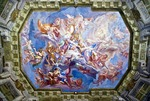 Vienna's Belvedere Palace Marble Room ceiling mural, Baroque architecture, built by Prince Eugene of Savoy