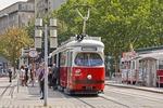 Vienna tram stop on Strassenbahn