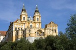 Melk Abbey, Benedictine church and monastery, in scenic Wachau Valley along Danube River
