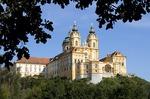 Melk Abbey, Benedictine church and monastery, in scenic Wachau Valley along Danube River
