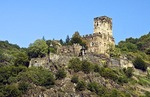 Gutenfels Castle overlooking Rhine River at Kaub