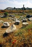 Temple of Artemis (aka Diana), ruins at Ephesus, was one of original Seven Wonders of the World