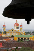 Colonial Granada Cathedral from La Merced church bell tower