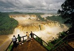 Iguazu Falls observation platform on Brazil side