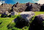 Inca Walls of Sacsayhuaman Fortress ruin at Cuzco