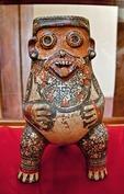 Pre-Hispanic sculpture at Museo El Convento de San Francisco in Granada from Isla Zapatera in Lake Nicaragua