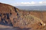 Masaya active shallow shield volcano crater