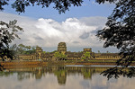 Angkor Wat west entrance with moat