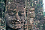 Angkor's Bayon Temple Sis stone faces of Boddhisattva