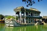 Marble Boat at Summer Palace reflecting in Kunming Lake