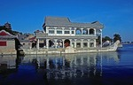 Marble Boat at the Summer Palace reflecting in Kunming Lake