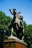 Tashkent statue of Amir Temur (Tamerlane), Turkic military leader and conqueror of Central Asia who restored Mongol empire