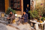 Residents of Daxu ancient village on Li River near Guilin