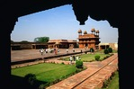Fatehpur Sikri (City of Victory) Hall of Private Audiences (Diwan-I-Khas)