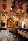 Cochin's historical Jewish Synagogue interior