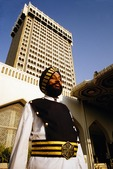 Sikh doorman at The Taj Mahal Palace Hotel and Tower, Sikh, man, men, doorman, people, portrait