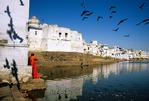 Rajasthan: Ghats along Pushkar Lake