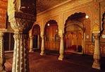 Rajasthan's Anup Mahal Palace, ornate coronation room, at Junagarh Fort in Bikaner