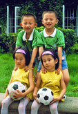 Double set of twins at kindergarten in Dalian
