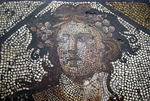 Istanbul Archaeology Museum, detail of Roman floor mosaic from Istanbul area in Autonine period