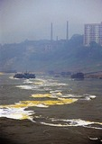 Industrial water pollution from factories along Yangtze downriver from Chongqing