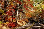 Michigan: Highway 41 in the Keweenaw Pennsula of the Upper Peninsula in autumn
