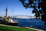 Huron Lightship Museum and Blue Water Bridge to Canada, on St. Clair River