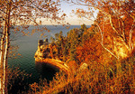 Miners Castle on Lake Superior in Pictured Rocks National Lakeshore in autumn