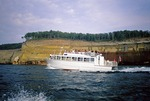 Pictured Rocks National Lakeshore cruise boat Miners Castle from Munising