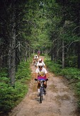 North woods bike trail through Michigan's northern lower peninsula