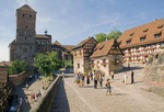 Nuremberg Castle (Kaiserburg) forecourt with Heidenturm Tower