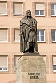 Nuremberg statue of Albrecht Durer, Northern Renaissance era painter and engraver