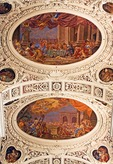 St Stephan Cathedral interior ceiling murals in Passau