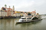 Danube River cruise ship at Passau