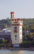 Mouse Tower (Mauseturm) along Rhine River at Bingen