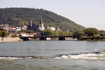 Nahe River flowing into the Rhine River at Bingen