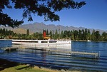 Historical steamer TSS Earnslaw on Lake Wakatipu's Queenstown Bay