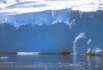 A glacier calving an iceberg at Neko Harbour