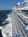 Diamond Princess cruise ship at sea off coast of Mexico
